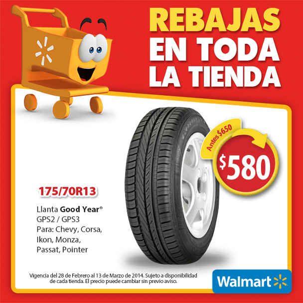 Walmart: Llantas Goodyear (GPS2/GPS3) 175/70R13 a $ 580 Walmart: Si las llantas de tu auto tienen grietas, protuberancias y un desgaste profundo, es hora de cambiarlas. Aprovecha esta oportunidad: Promoción> Llantas Goodyear (GPS2/GPS3) 175/70R13 antes $ 650 A PARTIR DE HOY a $ 580 Esta ... -> http://www.cuponofertas.com.mx/oferta/walmart-llantas-goodyear-gps2gps3-17570r13-a-580/