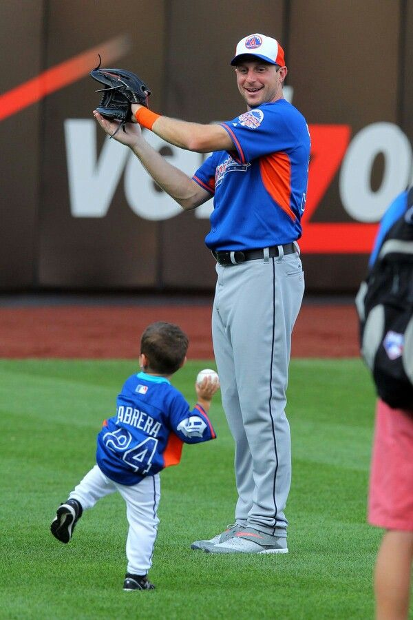 Little Cabrera and Max at the 2014 All Star Game