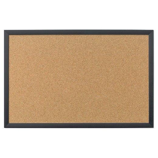 "U Brands Cork Bulletin Board, 35 x 23"" - Black Frame : Target"