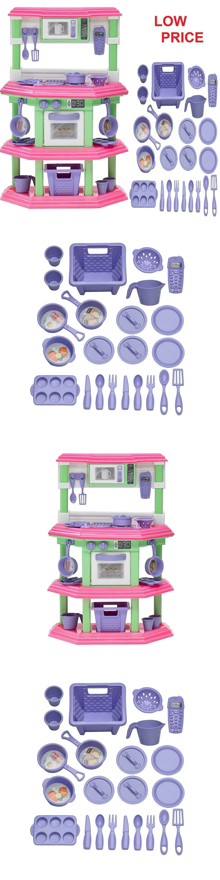 Kitchens 158746: Pretend Kitchen Play Set For Kids Cooking Food Toy Plastic Toddler Girl Set Kit -> BUY IT NOW ONLY: $35.95 on eBay!