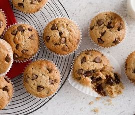 Banana & Choc Chip Muffins: Scrumptious treats which combine the goodness of banana and joy of chocolate. http://www.bakers-corner.com.au/recipes/muffins/banana-choc-chip-muffins/
