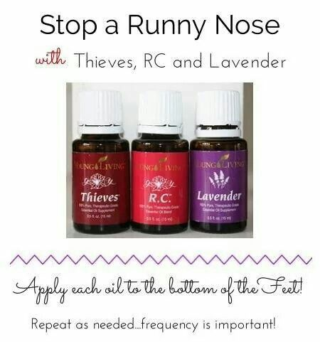 Young Living Essential Oils - how to stop a Runny Nose