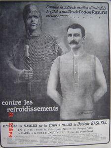 Ad-Pub ancienne-1910-Flanelles RASUREL-Cotte de mailles