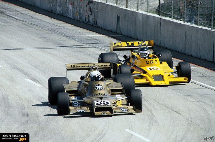 Riccardo Patrese, Long Beach 1978, Arrows FA1... followed by Jean-Pierre Jarier (ATS HS1)