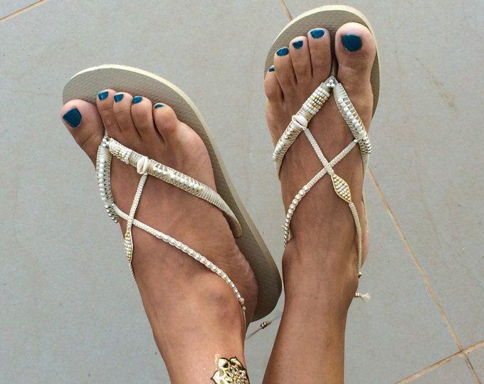 Bruidsmode Flip Flops, bruiloft Flip Flops, bruidsmeisje Flip Flops, zilveren & Gouden Flip Flop, bruiloft sandalen, comfortabele bruiloft schoen, Boho schoen