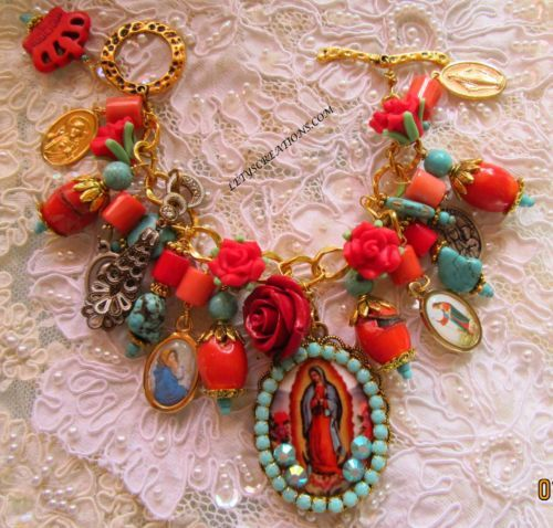 Catholic-Virgin-Mary-OL-of-Guadalupe-Religious-Medals-Charm-Bracelet http://stores.ebay.com/LETYS-CREATIONS