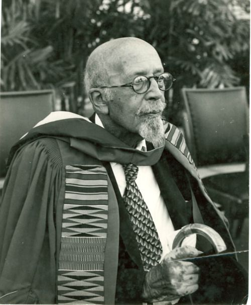 "In 1961, at the age of ninety-three, Dr. William E. B. Du Bois accepted an invitation from Ghanaian President Kwame Nkrumah to be the editor of the Encyclopedia Africana project. In the final months of his life, Dr. Du Bois renounced his American citizenship and become a citizen of Ghana. He died on August 27, 1963, the eve of the March on Washington.""    ""W.E.B. Du Bois receives an honorary degree from the University of Ghana, University of Massachusetts, Du Bois: The Activist Life""…"