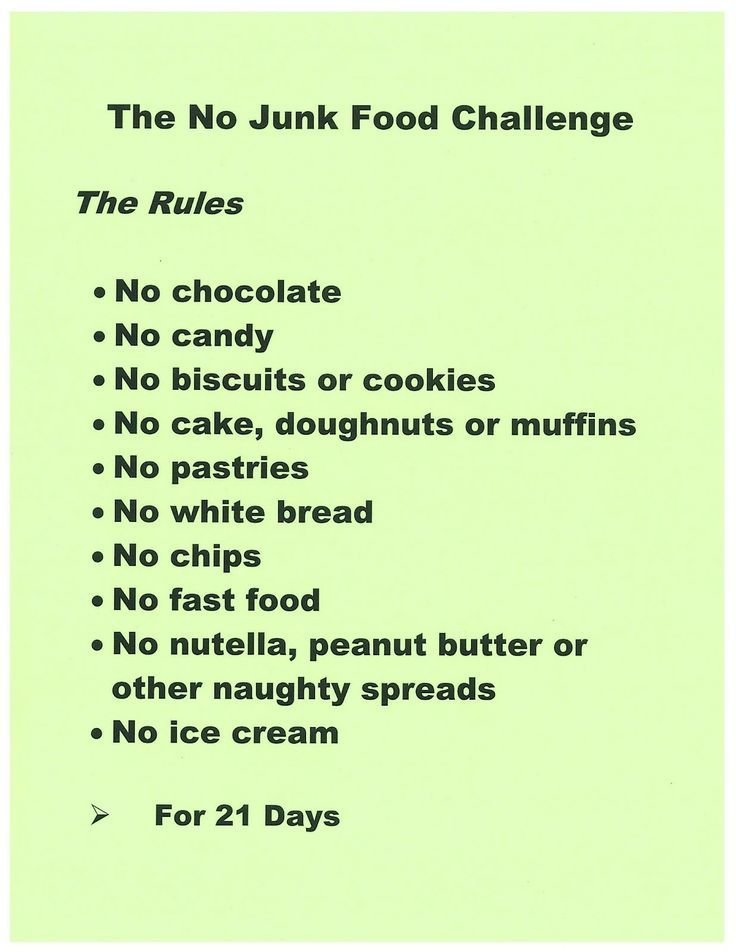 how to keep yourself from eating junk food