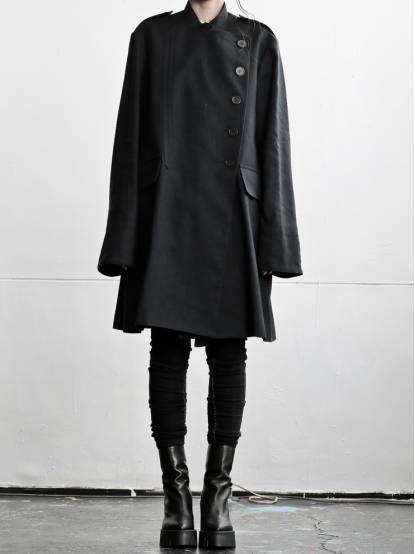 uniform_idea WOMEN DESIGNER :: ANN DEMEULEMEESTER :: 15-16 F/W :: ANN DEMEULEMEESTER BLANCHE オーバーサイズトレンチコート