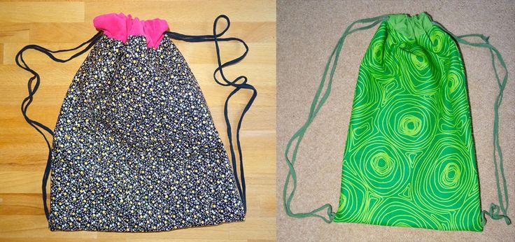 Tutoriel de couture pour un sac à dos de sport - Drawstring bag - Sport backpack by Biz Biz Handmade : couture · bag · tuto · DIY · sac · tutorial · sewing · tutoriel · backpack · sport · dos · draw · string · drawstring
