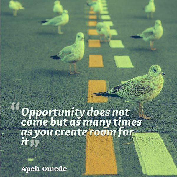 How do you define opportunity? http://www.mylifeexcel.com/my-definitions-of-opportunity-in-2015/