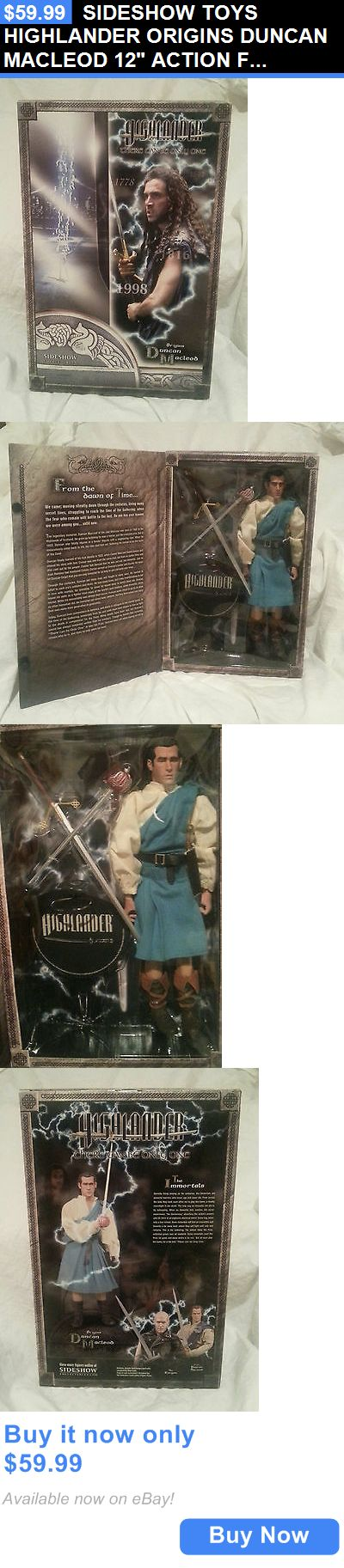 Toys And Games: Sideshow Toys Highlander Origins Duncan Macleod 12 Action Figure....New In Box BUY IT NOW ONLY: $59.99