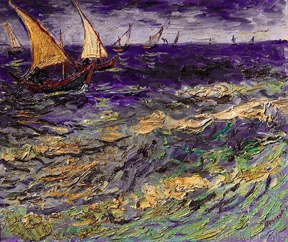Vincent van Gogh - Fischerboote bei Saintes-Maries
