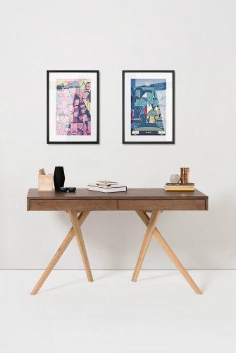Darcey Schreibtisch, Walnuss Und Eiche. Home OfficeFolding ChairDesignsLoftsSimple  ...