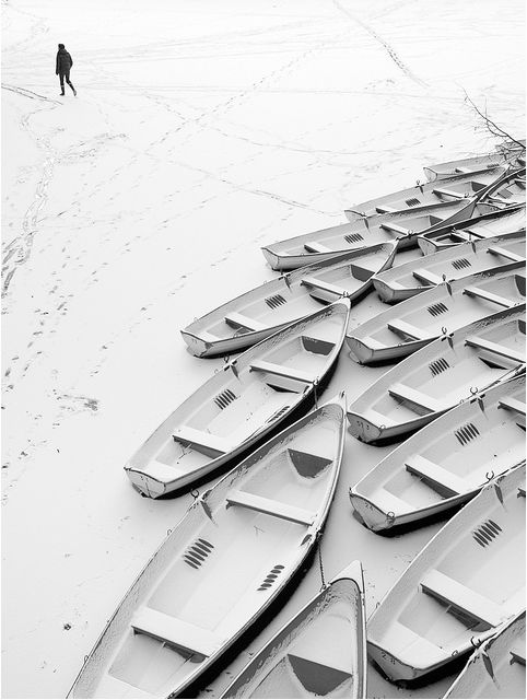 Loneliness  Black and White Photography that captures the silence of winter. Photo byYann Le Biannic.