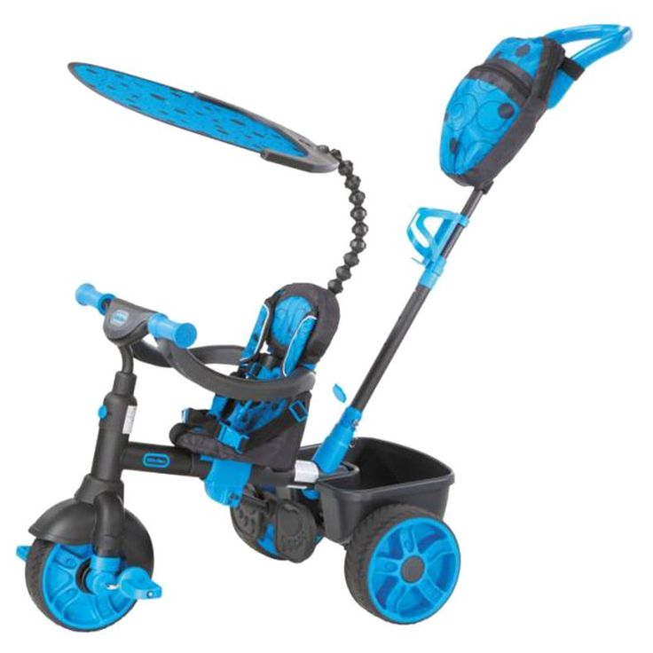 4-in-1 Trike Deluxe Edition - Neon Blue at Little Tikes