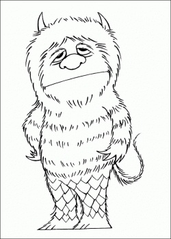 Where The Wild Things Are Coloring Pages For the big kids at f's party