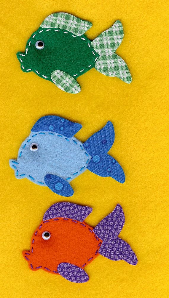 Felt fish - inspiration for a fish bowl counting pages for T quiet book