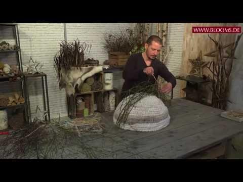 Ein neuer, cooler Look für Winterfloristik: Frosted-Wool-Iglu - YouTube