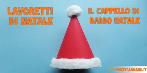 Come creare il cappello di Babbo Natale di carta