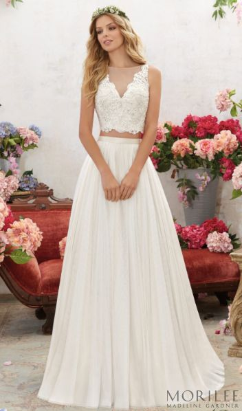 Morilee By Madeline Gardner Melina Wedding Dress For The Bohemian Brides Stunning 2 Piece With