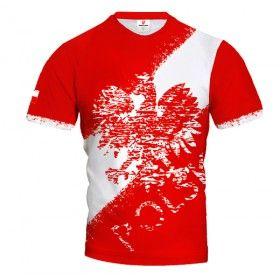 POLSKA STREET EAGLE & STRIPE Koszulka Patriotyczna T-Shirt