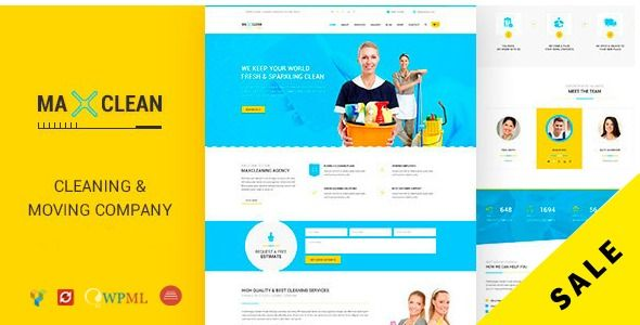 Max Cleaners Movers Cleaning Business Company Wordpress Theme Stylelib Moving Company Cleaning Business Cleaning Companies