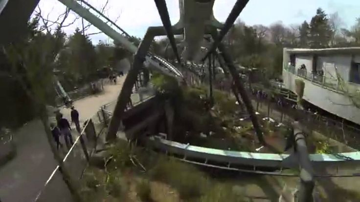 Galactica Roller Coaster Front Seat POV Alton Towers Resort (No Virtual Reality