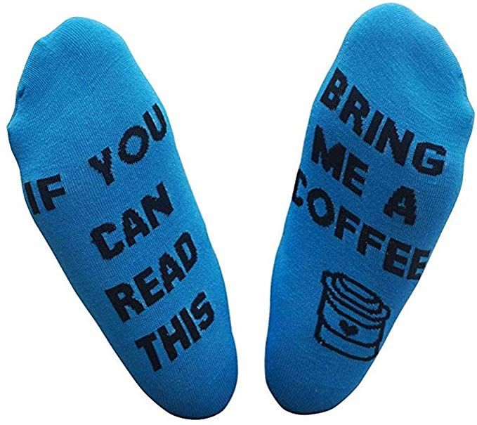 IF YOU CAN READ THIS Socks Funny Saying Women Mens Novelty Cotton Crew Socks