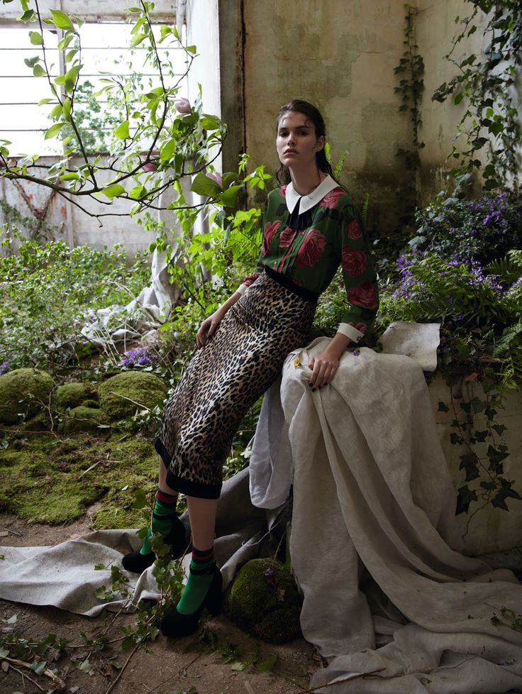 wild garden: vanessa moody by camilla akrans for vogue china august 2016   visual optimism; fashion editorials, shows, campaigns & more!