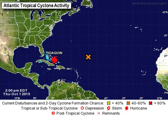 Hurricane JOAQUIN EXTREMELY DANGEROUS CAT 4 HURRICANE... ...CENTRAL BAHAMAS TO EXPERIENCE HURRICANE FORCE WINDS..http://www.nhc.noaa.gov/cyclones/