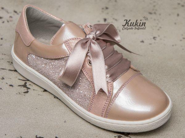 Zapatos deportivos niña Landos Deportivos niña piel