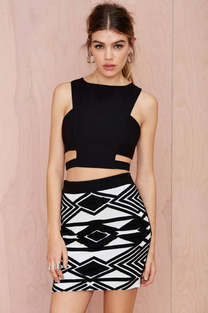 Hypnotize Textured Skirt | Nasty Gal