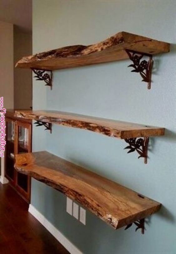 The Concept Of Live Edge Shelves Has Been Seen On Hgtv