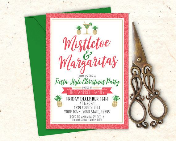 Mistletoe & Margaritas Holiday Party by MaddieMaeCreative on Etsy
