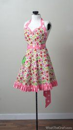 Vintage Apron Patterns Free | ... > Sewing Patterns > Vintage Style Retro Apron Printable PDF Pattern