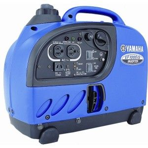 The Yamaha 1000 Watt Portable Generator provides lightweight and portable electricity with an inverter system that features Pulse Width Modulation (PWM). That means it can deliver clean power so you can use it confidently for powering computers, solid-state appliances with built-in computer functions, or microcomputer-controlled power tools. The lightweight design is easy to carry and features noise-absorbing materials.