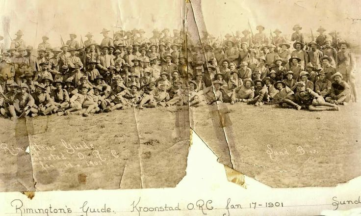 Boer traitors serving as Rimington Guides. Kroonstad 1901 Photo from the collection of Rhona Boden.