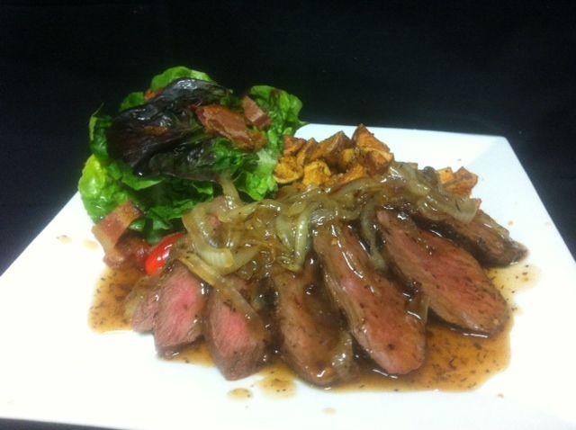 ... potatoes, and an artisan lettuce,tomato, and bacon salad Aloha! Chef