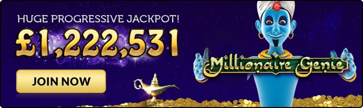 "There's A New Genie In Town! This new progressive jackpot slot at out of this world Moon Games is now up to an incredible £1.2 Million and right now all  new players can claim a double welcome bonus using the promo code ""SLOT"" giving you even more chances of grabbing this life changing amount of cash! Lots of promotions to claim and even more games to play and now with the option of playing for Free! http://www.initto-winit.com/games/moon-games/"