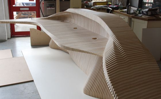 CNC Routing :: Reception Desk