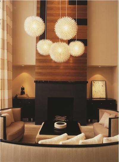 dramatic fireplace wall