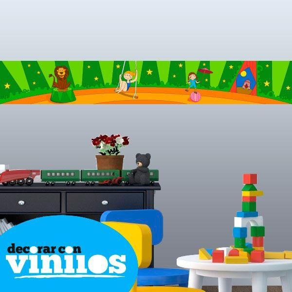 Cenefa Infantil - Circo Mira más cenefas infantiles en http://www.decorarconvinilos.com/vinilos-infantiles/cenefas-infantiles