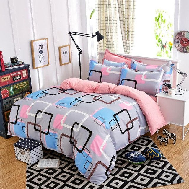 Hot sale Home Textile 3/4pc Bedding Sets Size for Twin Full Queen king Home Hotel Bed Linen Bed Sheets Duvet Cover Set-33 colors