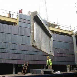 National Waterfront Museum at Swansea / Wilkinson Eyre Architects / Сланец Welsh Slate / сборные панельные стены