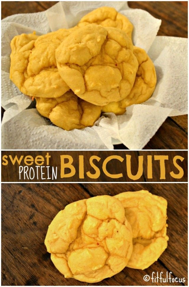 Sweet Protein Biscuits {gluten free}