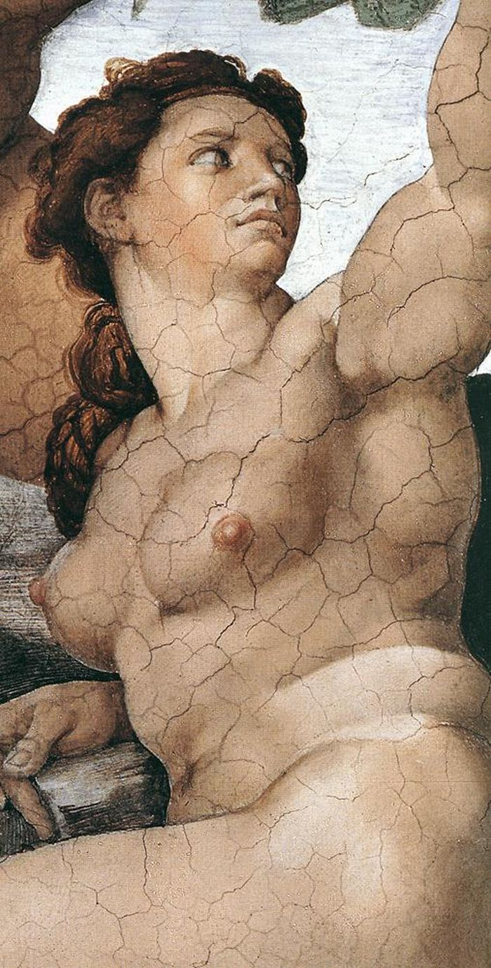 Michelangelo images - Michelangelo Buonarroti 1475 1564 Sistine Chapel The Fall Of Man