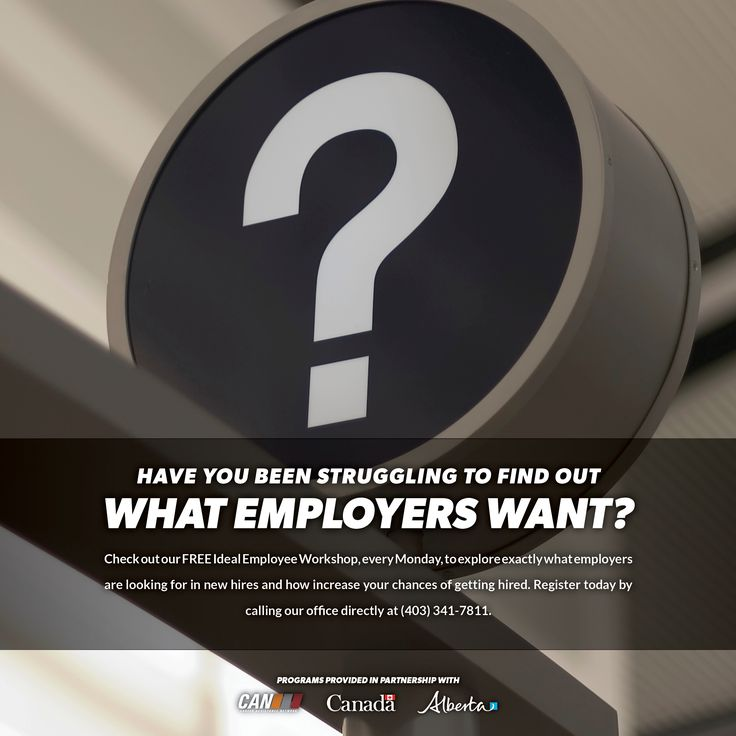 Check out our free IDEAL EMPLOYEE WORKSHOP (every Monday), to explore exactly what employers are looking for in new hires and how to increase your chances of getting hired.  Register today by calling our office directly at 403-341-7811  #idealemployee #changeyourcareer #rdcan