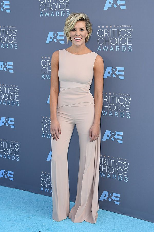 ...Charissa Thompson attends the 21st Annual Critics' Choice Awards at Barker Hangar on January 17, 2016 in Santa Monica, California. (Photo by Steve Granitz/WireImage)