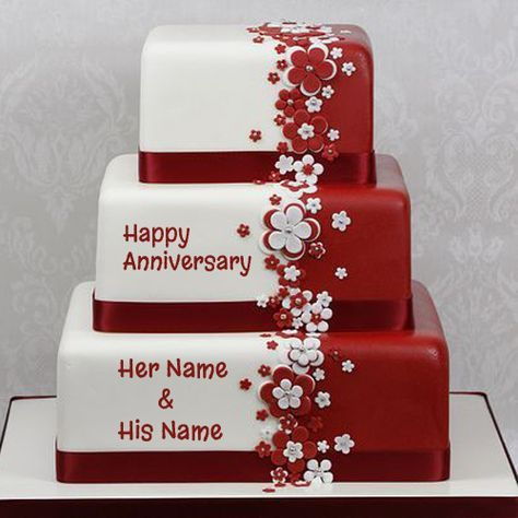 Happy Anniversary Cake Name Picture OnlineWrite Your On Wedding Online Free
